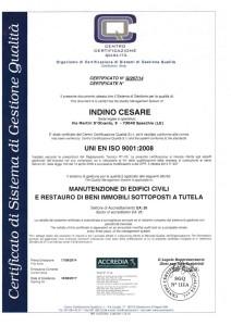 Certificato INDINO CESARE - iso immagine